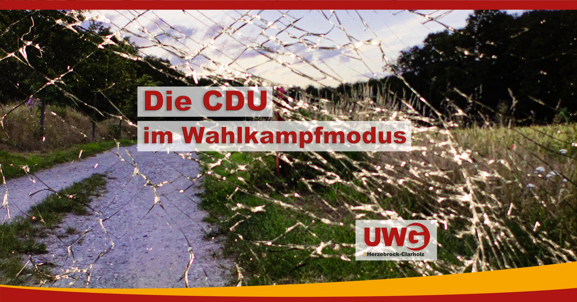 CDU im Wahlkampfmodus