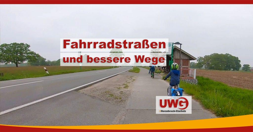 Fahrradstraßen und bessere Wege